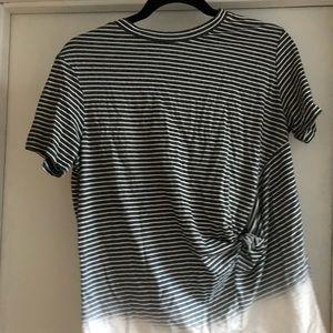 All saints tshirt striped